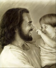 Jesus Laughing with Child